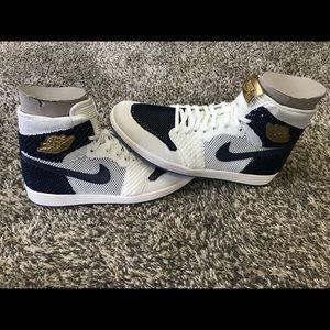 Nike Shoes - Air Jordan 1 Derek Jeter Flyknit e59b96a27